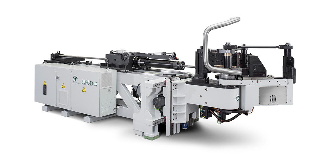 Tube bending machines with automatic set-up of tube bending equipment
