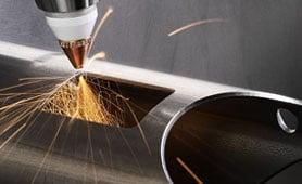 Lochungen werden bei stärkeren Rohren schneller und sicherer ausgeführt.