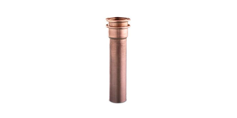 Tubo doblado y deformado con una dobladora CNC a partir de bobina.