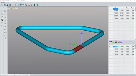 B-Tools La compensation de retour élastique avec une cintreuse de tube