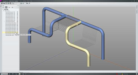 Integrazione tecnologica fra taglio laser e curvatura del tubo