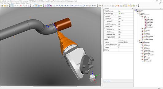 Manipulation de robot dans la découpe laser 3D