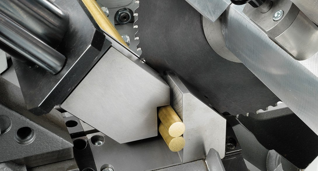 Cutting of short part of brass and brass alloys
