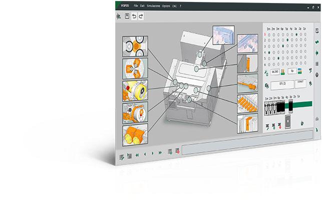 Logiciel de programmation sagomatubi con rullatore CNC VGP2D