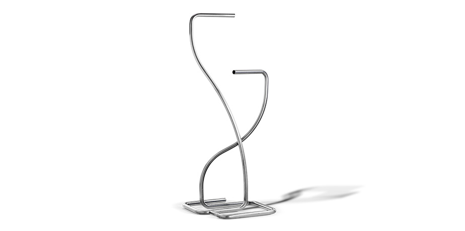 Magazine rack made with bent stainless steel tube