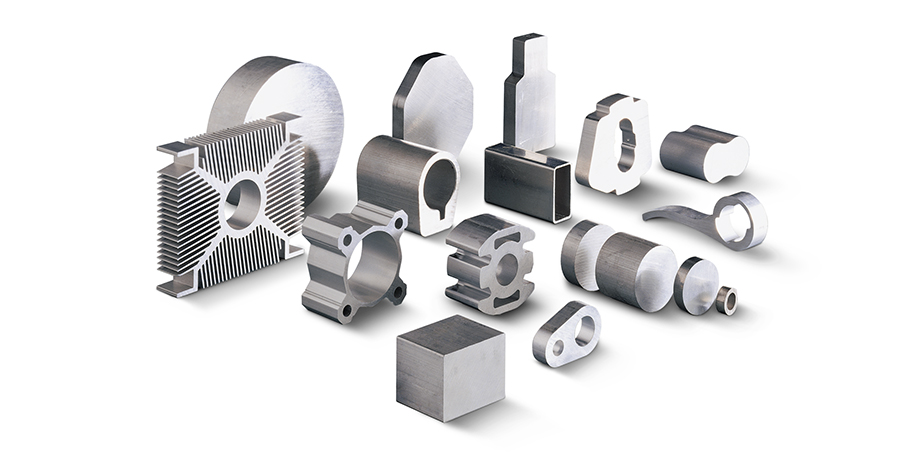 Aluminum samples made from tubes and bars