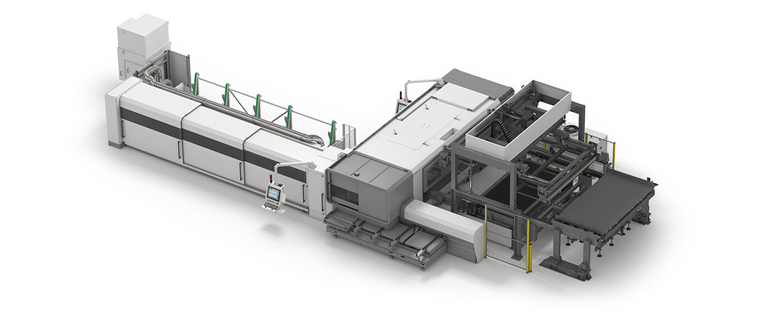 Sheet handling automation from pallet changer