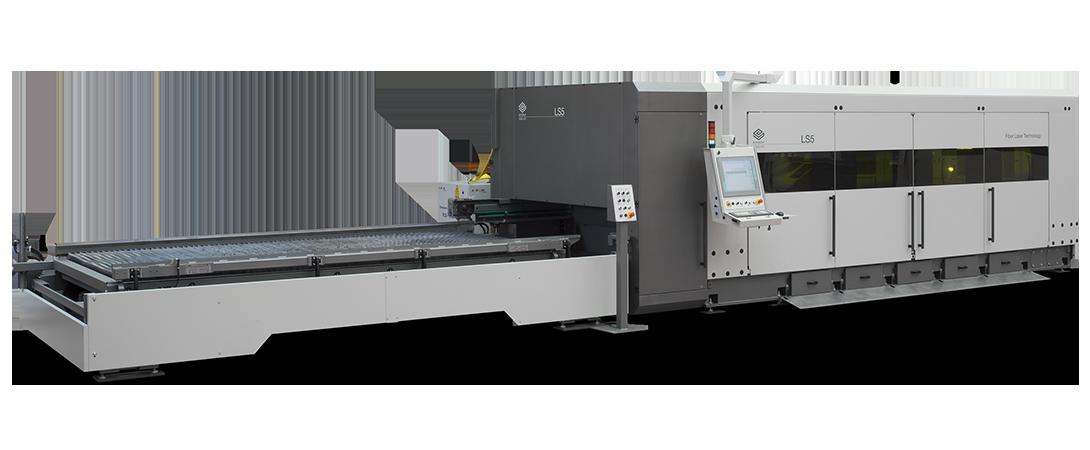 Découpe laser de tôles LS5 en configuration longitudinale
