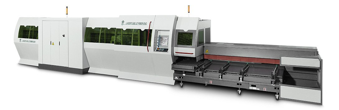 Automatic laser cutting machine for standard tubes, open sections and special sections