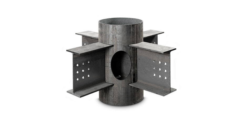 IPE beam structural node