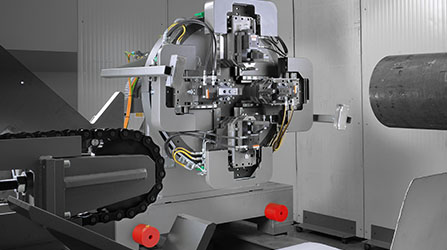 Automatic adjustment spindle for all sections