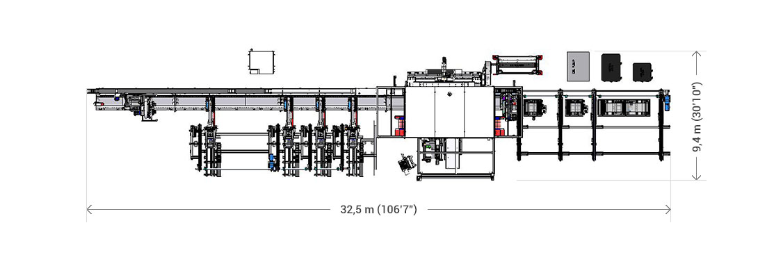 "32.5 m x 9.4 m (106'7"" x 30'10"" )"