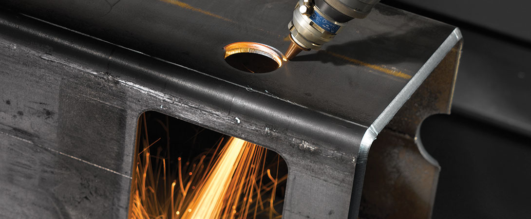 Chamfering/round hole flaring by 3D laser cutting