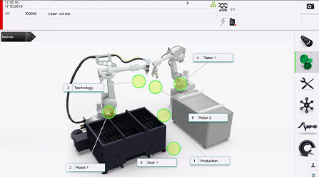 LT-FREE 3D laser cutting robot system interface