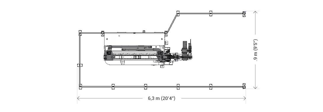 6.3 m (20.4')  2.9 m (9.5')