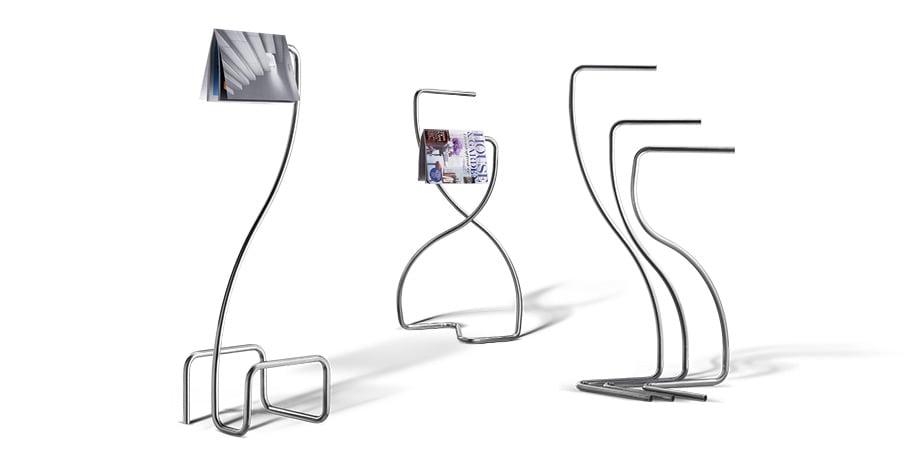 Design-Teile, hergestellt mit einer Rohrbiegemaschine mit Rechts- und Linksbiegung im Prozess