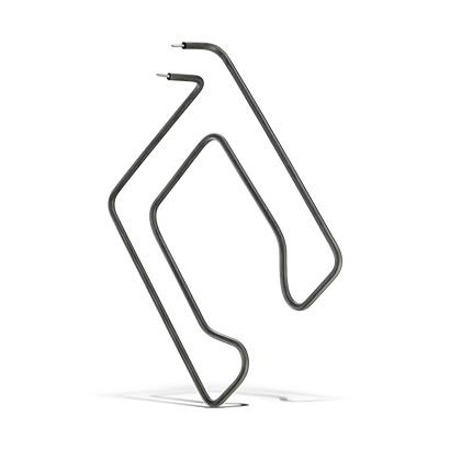 Resistência  curvada na curvadora de arame com cabeçote duplo CNC