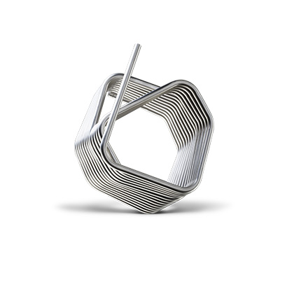 Coil for refrigeration made with CNC tube benders