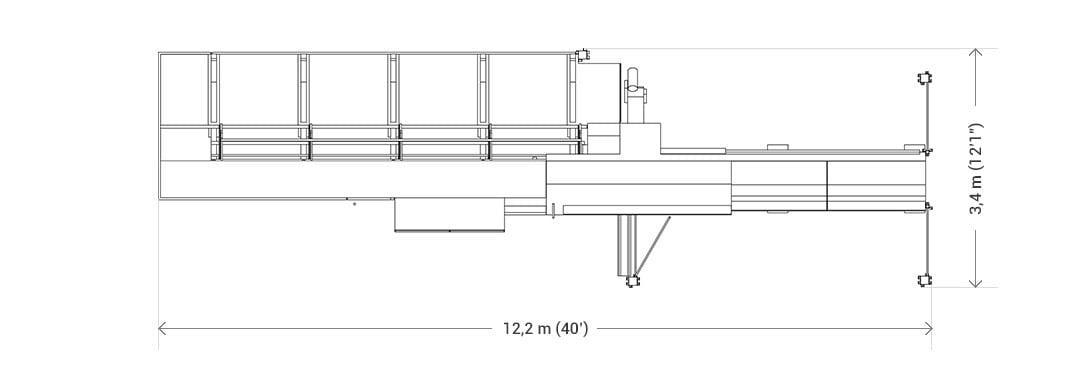 Wymiary TS72 w podstawowej konfiguracji