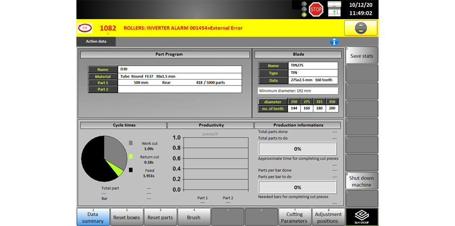 simplified access to machine parameters